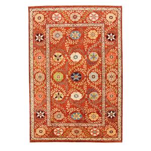 Handgeknüpft Suzani Orientalisch Wolle Teppich  301x200 cm