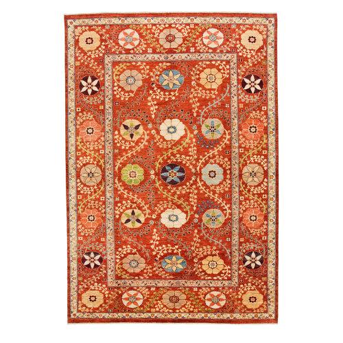 Handgeknoopt Suzani oosters vloerkleed tapijt 301x200 cm kleed