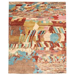 Handgeknüpft Modern Art Mehrfarbig 244x199 cm Abstrakt Wolle Teppich