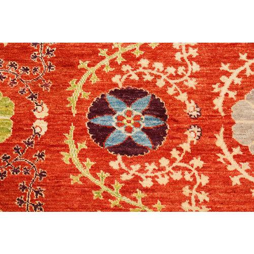 Handgeknoopt Suzani oosters vloerkleed tapijt 303x206 cm kleed
