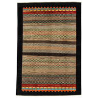 Hand knotted 9'6x6'4ft Modern Multicolor best Wool Rug 294x198cm Area rug Carpet