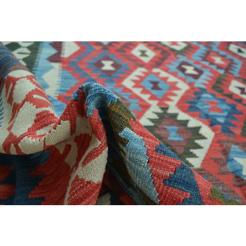 exclusive  Vloerkleed Tapijt Kelim 350x244 cm Kleed Hand Geweven Kilim