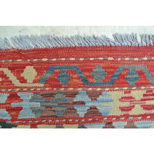 exclusive  Vloerkleed Tapijt Kelim 358x244 cm Kleed Hand Geweven Kilim