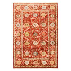 Handgeknoopt Suzani oosters kleed tapijt 306x200 cm  vloerkleed