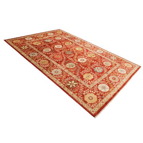Handgeknüpft Suzani Teppich  306x200 cm Wolle Orientalisch  Teppich