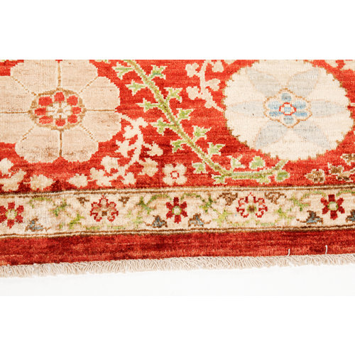 Hand knotted 10 x 6'6 Suzani  Wool Rug 306x200 cm  Oriental Carpet