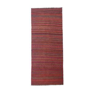 Handmade Afghan Kilim Hallway runner 11'09x4'46 Feet Traditional 100% Wool