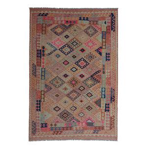 10'01x6'56 Sheep Wool Handwoven Multicolor Traditional Afghan kilim Area Rug