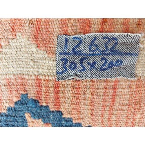 exclusive  Vloerkleed Tapijt Kelim 305x200 cm Kleed Hand Geweven Kilim