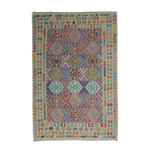 exclusive Kelim Teppich 292x197 cm afghan kilim teppich