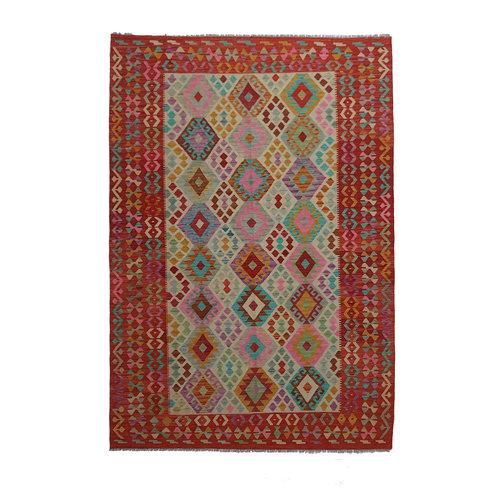 exclusive Kelim Teppich 302x198 cm afghan kilim teppich