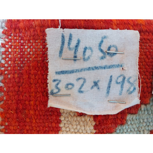 exclusive  Vloerkleed Tapijt Kelim 302x198 cm Kleed Hand Geweven Kilim