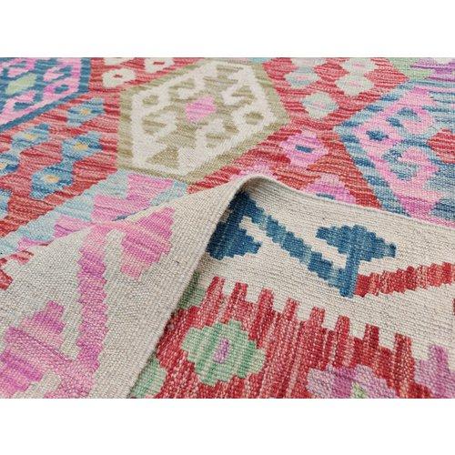 9'58x6'95 Sheep Wool Handwoven Multicolor Traditional Afghan kilim Area Rug
