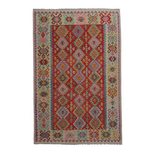 9'84x6'63 Sheep Wool Handwoven Multicolor Traditional Afghan kilim Area Rug