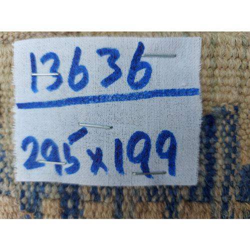 exclusive  Vloerkleed Tapijt Kelim 295x199 cm Kleed Hand Geweven Kilim