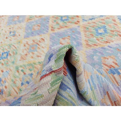 exclusive  Vloerkleed Tapijt Kelim 302x205 cm Kleed Hand Geweven Kilim