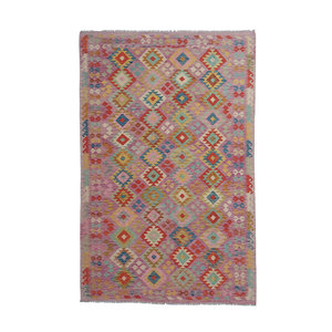 9'74x6'43 Sheep Wool Handwoven Multicolor Traditional Afghan kilim Area Rug