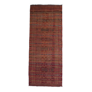 13'35x5'25 Sheep Wool Handwoven Multicolor Traditional Afghan kilim Area Rug