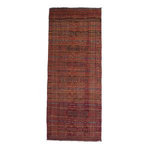 exclusive  Vloerkleed Tapijt Kelim 407x160 cm Kleed Hand Geweven Kilim