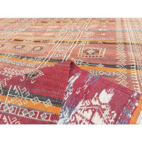13'35x5'25 Sheep Wool Handwoven Multicolor Traditional Afghan kilim Area Rug