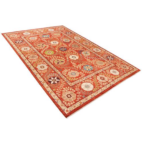 Handgeknoopt Suzani oosters kleed tapijt 299x201 cm  vloerkleed