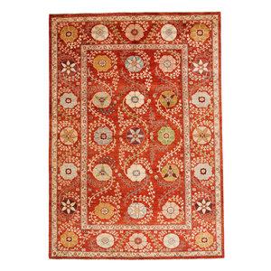 Handgeknoopt Suzani oosters kleed tapijt 308x210 cm  vloerkleed