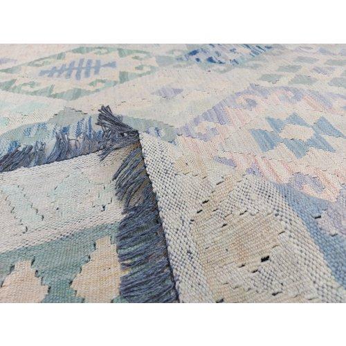 exclusive  Vloerkleed Tapijt Kelim 342x241 cm Kleed Hand Geweven Kilim