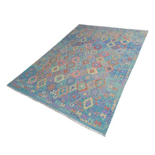 exclusive  Vloerkleed Tapijt Kelim 367x273 cm Kleed Hand Geweven Kilim