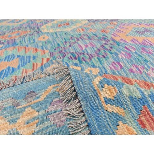 12'04x8'95 Sheep Wool Handwoven Multicolor Traditional Afghan kilim Area Rug