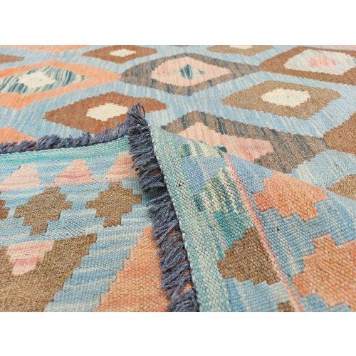 9'84x8'26 Sheep Wool Handwoven Multicolor Traditional Afghan kilim Area Rug