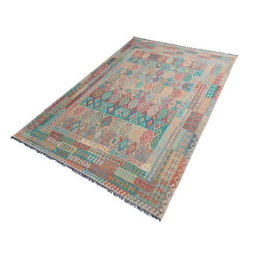 12'33x8'85 Sheep Wool Handwoven Multicolor Traditional Afghan kilim Area Rug