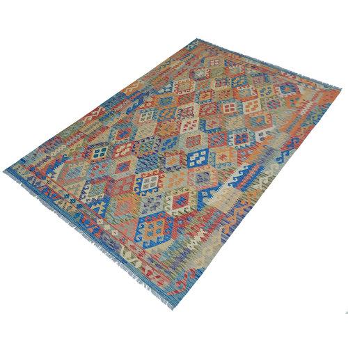 exclusive Kelim Teppich 302x206 cm afghan kilim teppich