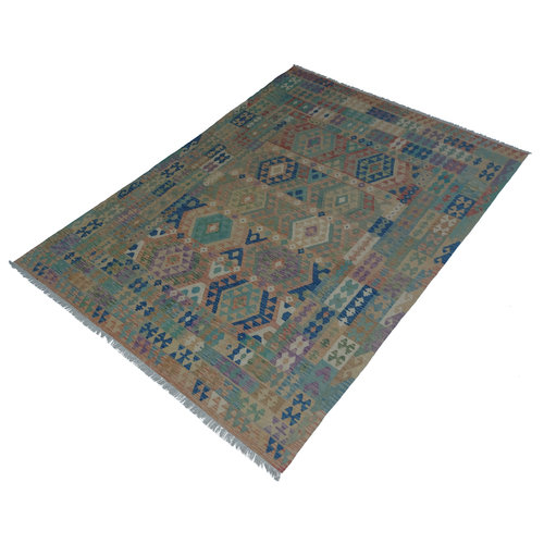 exclusive  Vloerkleed Tapijt Kelim 286x200 cm Kleed Hand Geweven Kilim