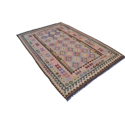 Handgewebte Kelim Teppich  306x200 cm Wolle Orientalisch  Teppich
