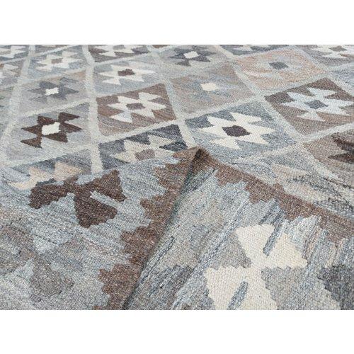 exclusive  Vloerkleed Tapijt Kelim 292x217 cm Kleed Hand Geweven Kilim