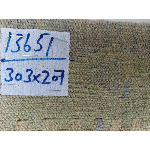 exclusive  Vloerkleed Tapijt Kelim 303x207 cm Kleed Hand Geweven Kilim