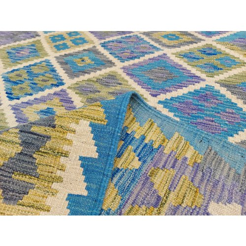 exclusive  Vloerkleed Tapijt Kelim 297x201 cm Kleed Hand Geweven Kilim
