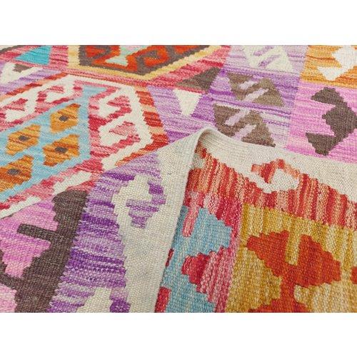 9'81x6'82 Sheep Wool Handwoven Multicolor Traditional Afghan kilim Area Rug