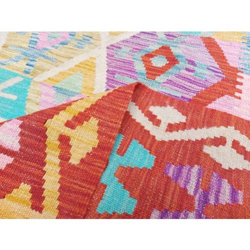 9'42x6'53 Sheep Wool Handwoven Multicolor Traditional Afghan kilim Area Rug