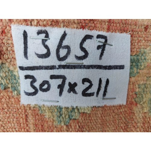 exclusive  Vloerkleed Tapijt Kelim 307x211 cm Kleed Hand Geweven Kilim