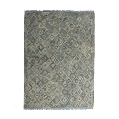 exclusive  Vloerkleed Tapijt Kelim 287x205 cm Kleed Hand Geweven Kilim