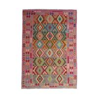 9'71x6'66 Sheep Wool Handwoven Multicolor Traditional Afghan kilim Area Rug
