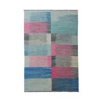 10'04x6'82 Sheep Wool Handwoven Multicolor Traditional Afghan kilim Area Rug