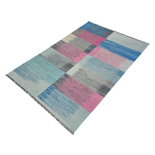 exclusive  Vloerkleed Tapijt Kelim 306x208 cm Kleed Hand Geweven Kilim