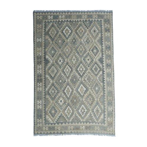 9'74x6'63 Sheep Wool Handwoven Multicolor Traditional Afghan kilim Area Rug