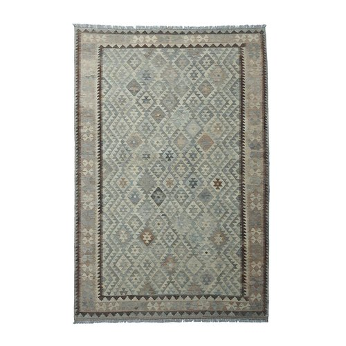 10'11x6'60 Sheep Wool Handwoven Multicolor Traditional Afghan kilim Area Rug