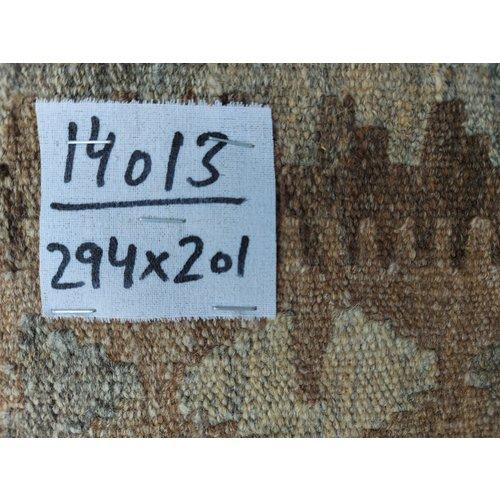 exclusive  Vloerkleed Tapijt Kelim 308x201 cm Kleed Hand Geweven Kilim