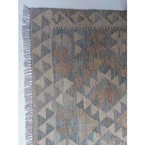 exclusive  Vloerkleed Tapijt Kelim 300x206 cm Kleed Hand Geweven Kilim
