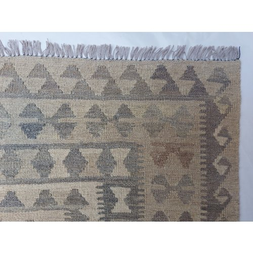 10'01x6'60 Sheep Wool Handwoven Natural Traditional Afghan kilim Area Rug