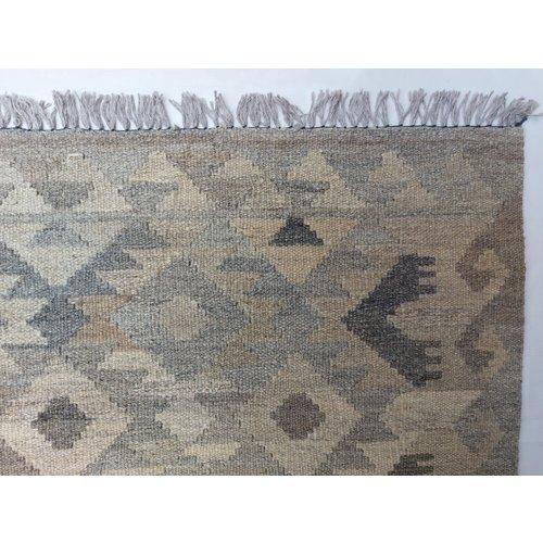 9'68x6'63 Sheep Wool Handwoven Multicolor Traditional Afghan kilim Area Rug